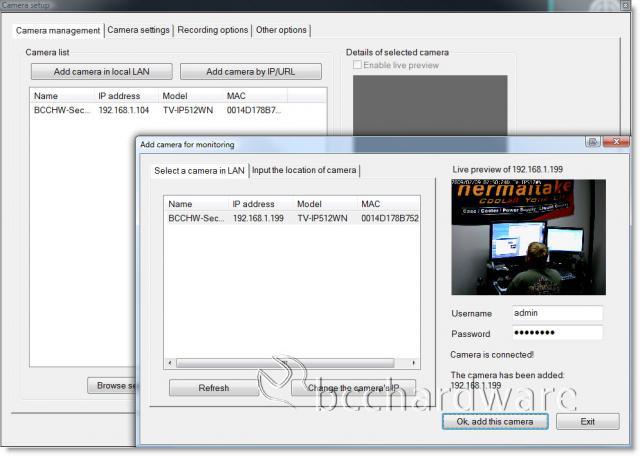 IPView Pro Find Camera