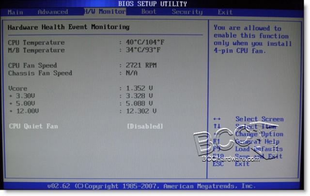 BIOS - Hardware Monitor