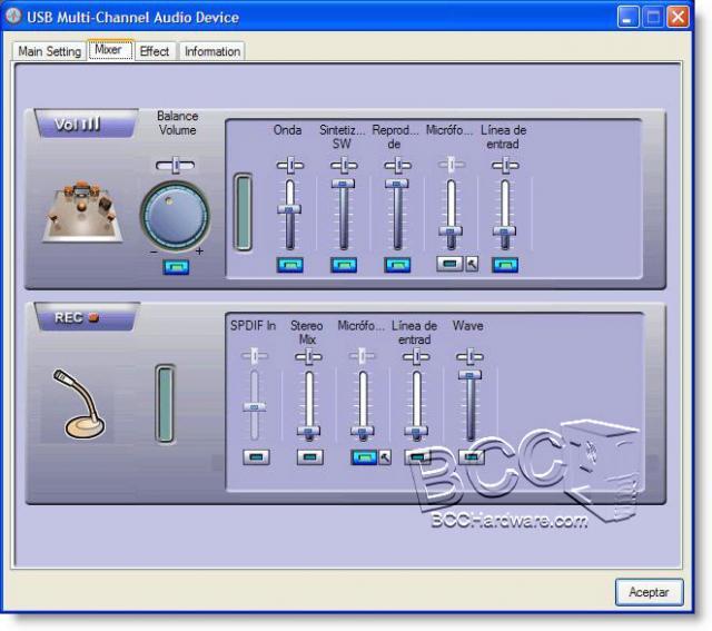 Mixer Tab