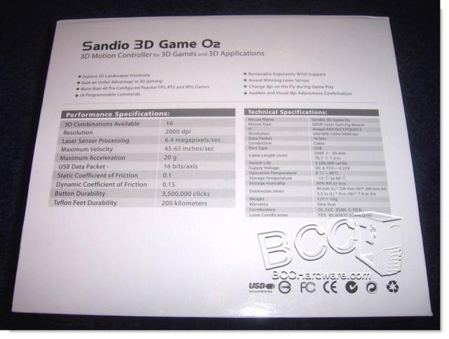Sandio O2 Info