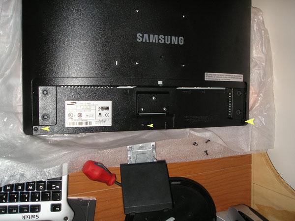 Main screws for opening