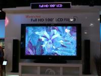 "LG - Worlds First 100"" Plasma Display.  (It's actually just two 50"" displays put together.  When the picture i"