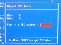 Cell Menu - CPU Ratio