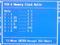 Cell Menu - Memory Ratio