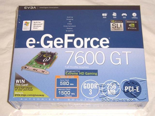 eVGA 7600GT CO - Box