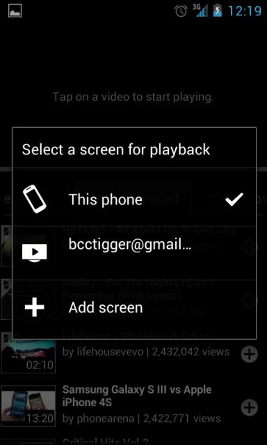 Playback Screen