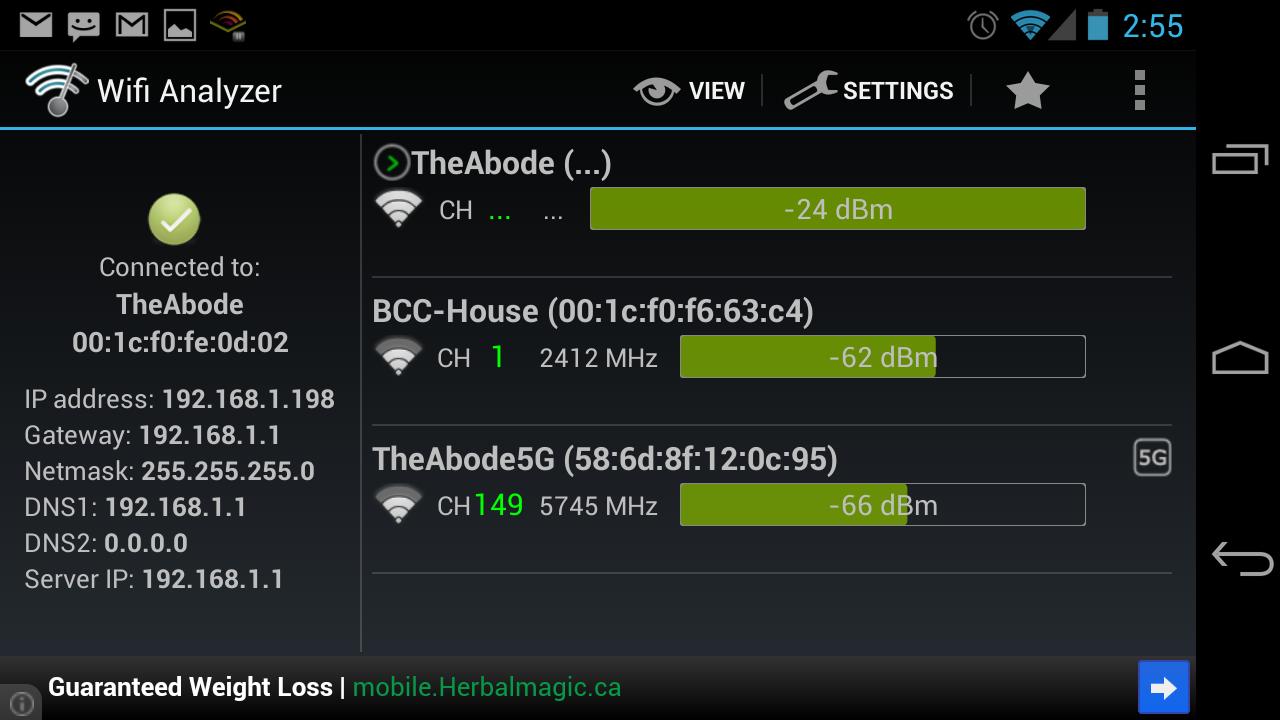 Network Stats - Horizontal