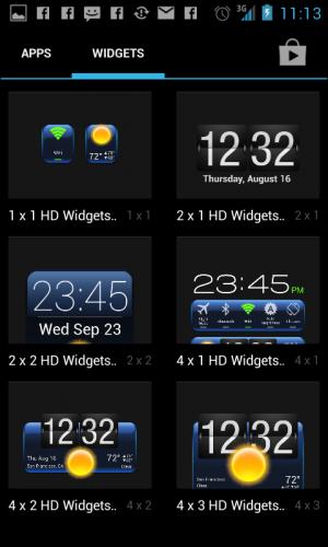 Widget Sizes