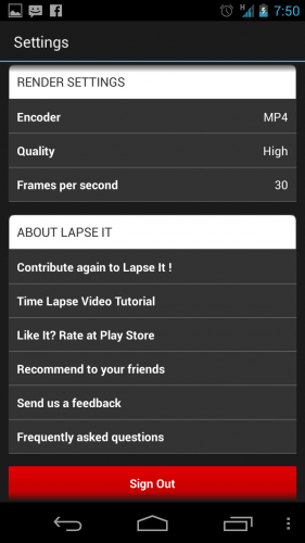 Lapse It - More Settings
