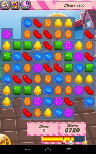 Candy Crush Playing