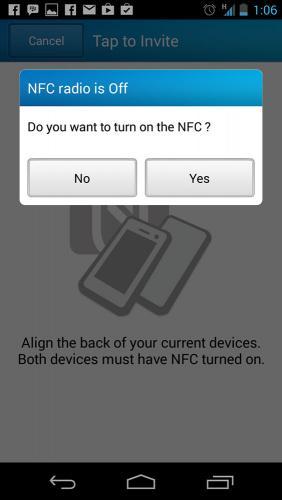 NFC Invite