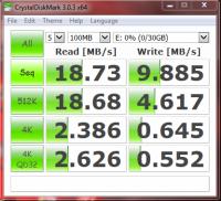 Crystadiskmark kingston 8GB flash
