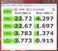 Crystaldiskmark sansa 32GB flash