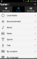 TuneIn Radio Pro - Browse