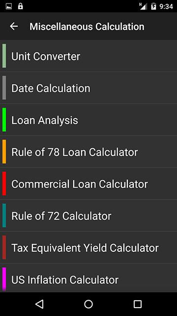 Calc Options
