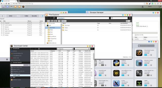 ASUStor ADM Desktop
