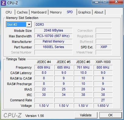 CPU-Z - SPD