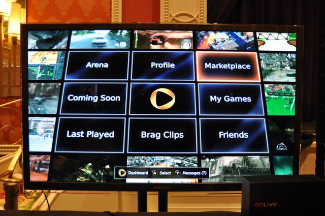 OnLive on Your TV