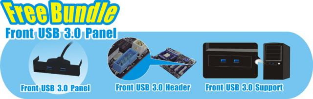 Free Bundle Front USB 3.0 Panel